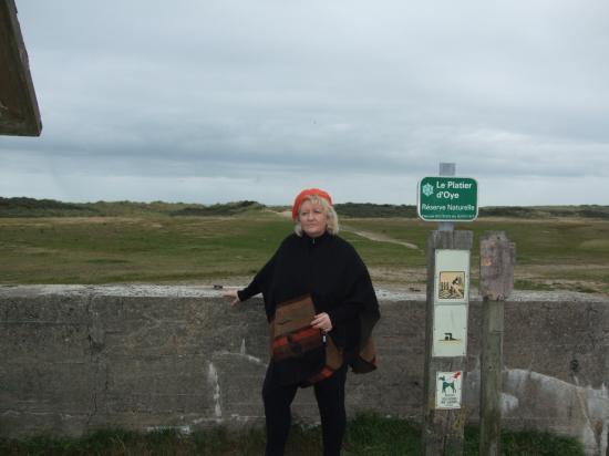 moi, sur la plage de OYE PLAGE le 12;10;11