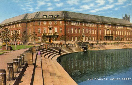 The council house of Derby (ANGLETERRE)