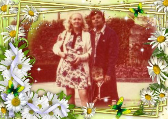 Michel, Dominic et moi en 1976