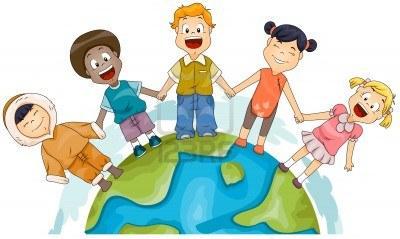 8614163 illustration des enfants de differentes races joignant des mains pour representer la diversite