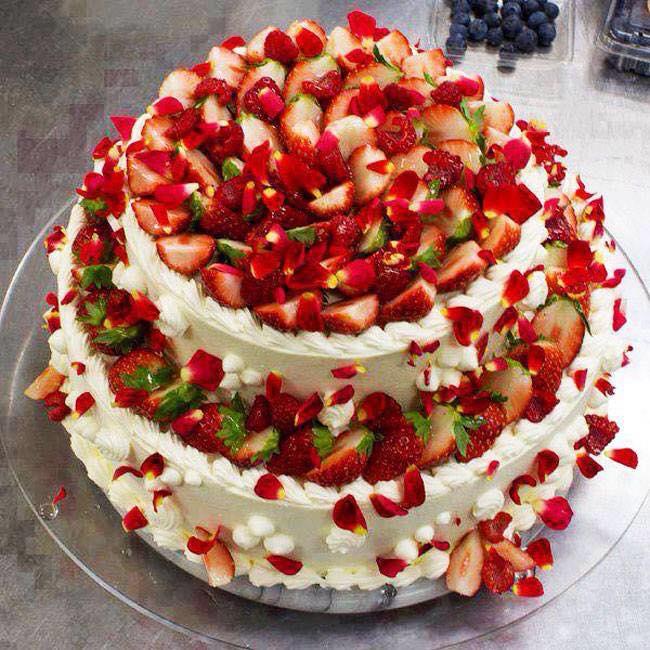 Gateau aux fraises