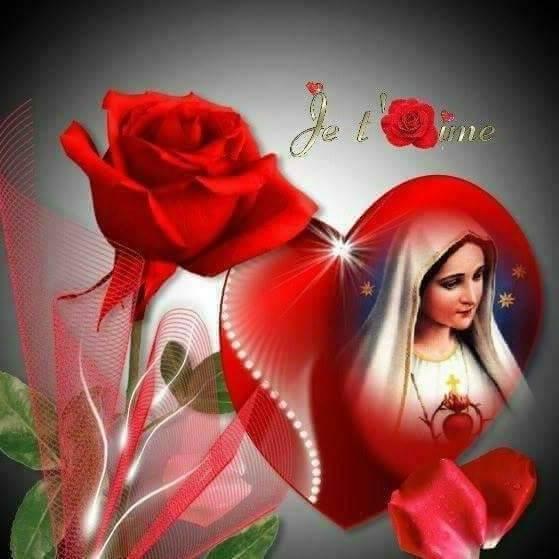 Marie ste vierge rouge